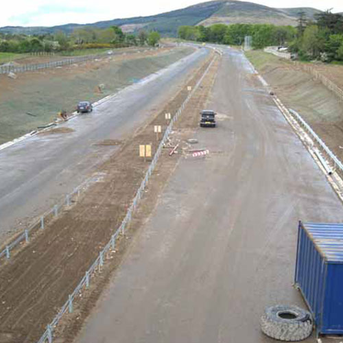 Chantier construction autoroute