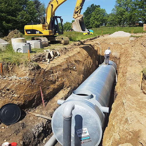 Implantation cuve de rétention